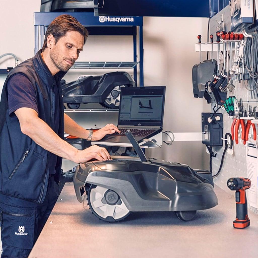 Revisión y reparación Automower robot Cortacesped